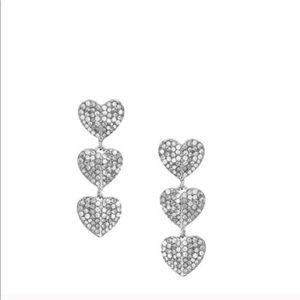 NWT Kate Spade Pave Drop Earrings
